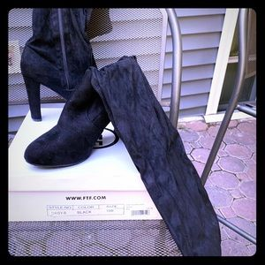 Plus size wide calf thigh high boots
